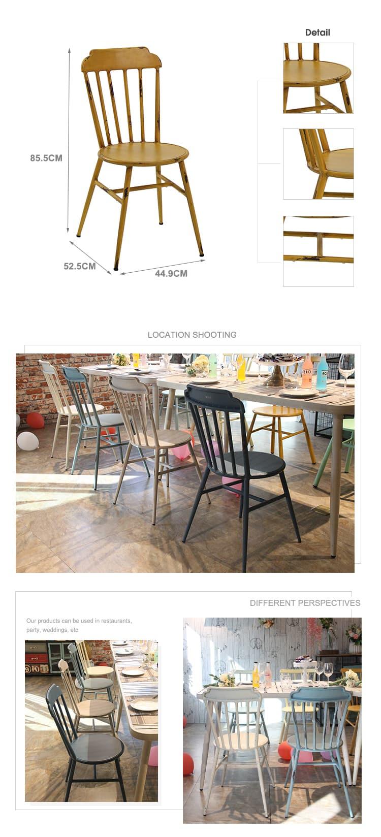 Silla de comedor apilable nórdica para restaurante Crown Royal de diseñador 723-H45 (75) -ALU