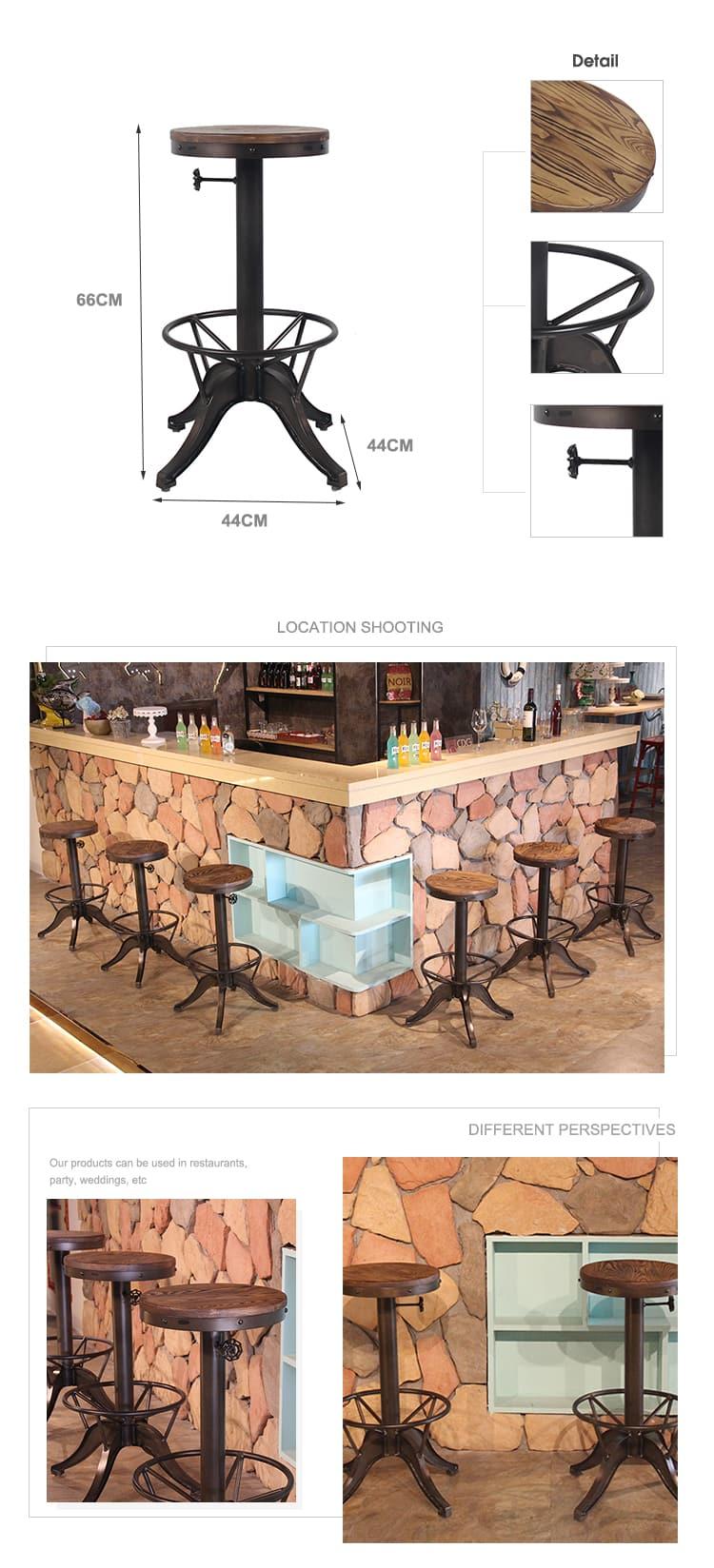 كرسي مرتفع من American Loft Bar Stool 642-H75-STW (2)