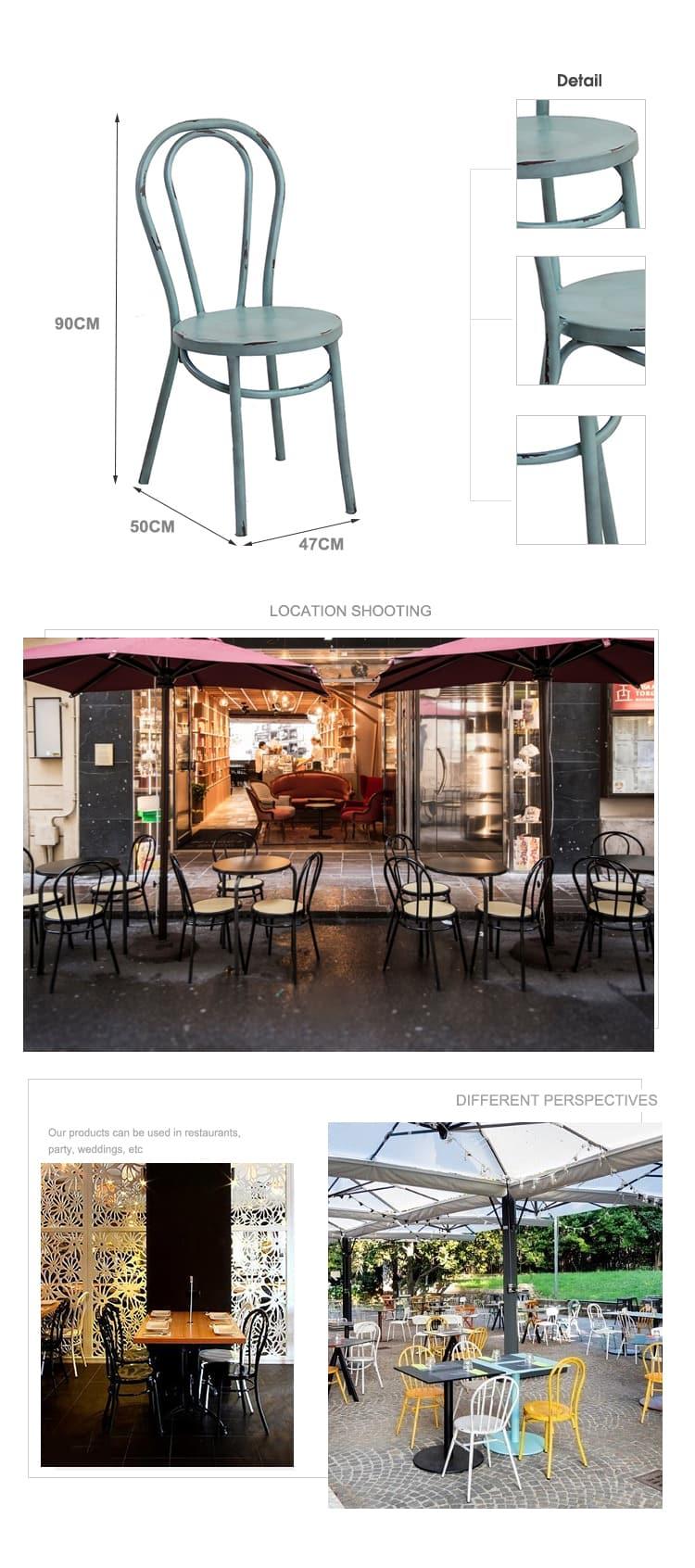 Silla de madera curvada Thonet de restaurante de café de aluminio 626CS-H45-ALU
