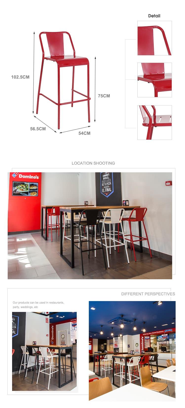 Sedia impilabile nordica per sala da pranzo da bistrot per ristorante industriale 796S-H45-ALU (2)