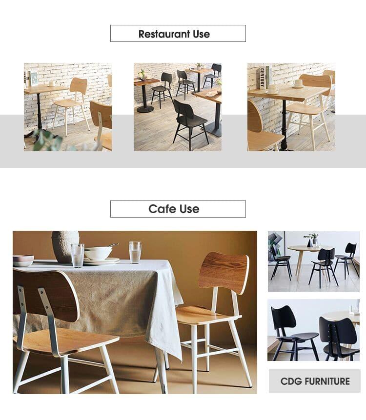 كراسي تناول الطعام الخشبية ذات المقعد الخشبي الشهير 741-H45-STW (3)