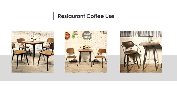Comercio al por mayor Restaurante Café Bistro Tablero de madera maciza TTAW-LB-SQ70-25 (2)