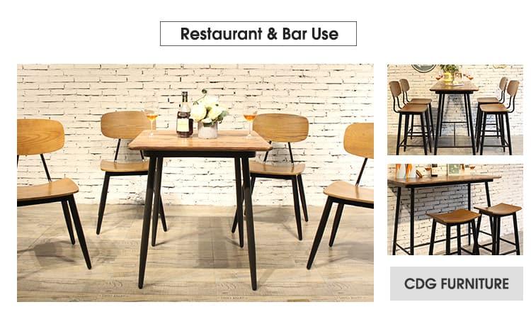 Tavolo industriale 658DT-STW-SQ70&658BT-STW-RE13060 della mobilia del caffè del ristorante della barra (3)