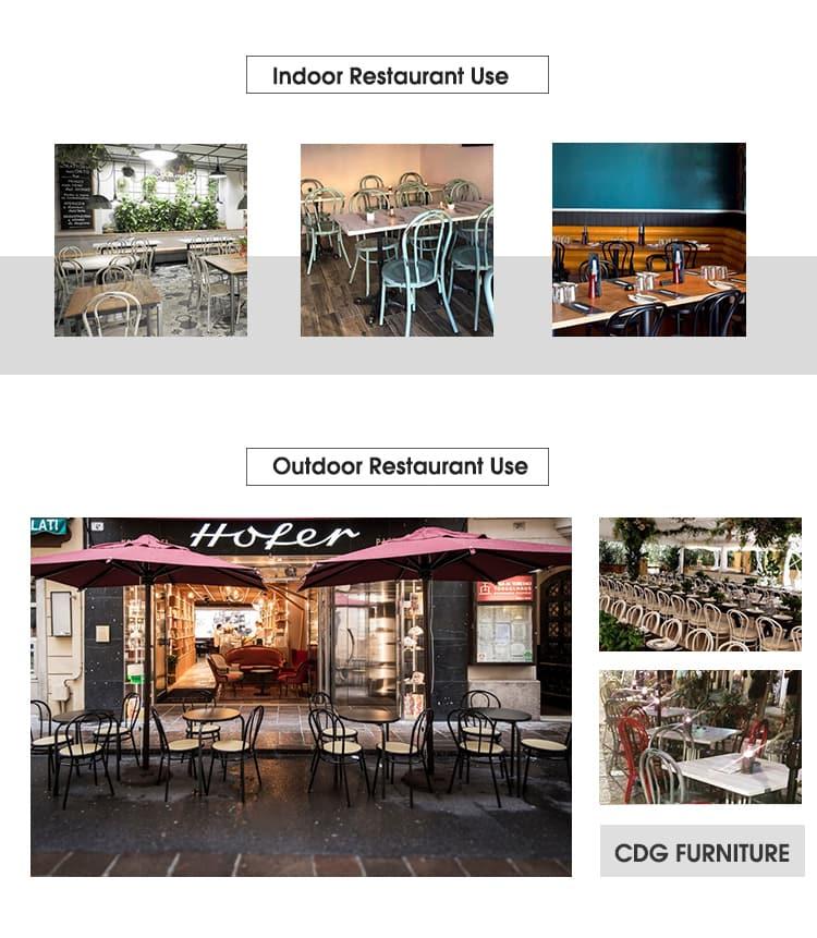 Restaurante de café de aluminio Thonet Silla de madera curvada 626CS-H45-ALU (3)