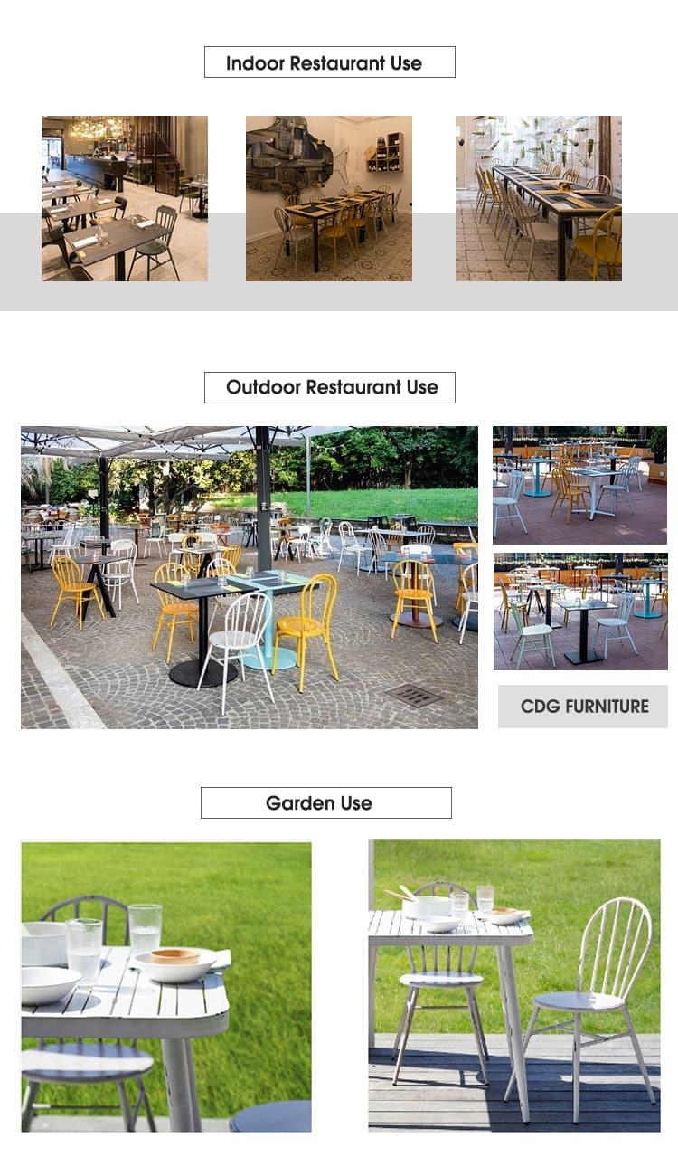 Sedia da caffetteria impilabile vintage industriale 722-H45-ALU(ST) (3)