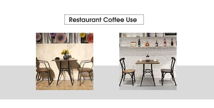Mesa de madera de teca de roble de ceniza de EE. UU. Para restaurante Cafe TTAW-VW01-SQ70-25 (3)