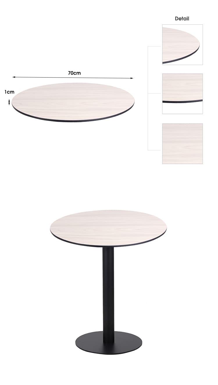 تصميم مخصص ضياء 60-100 سم طاولة HPL مستديرة HPL-RO70 (2)