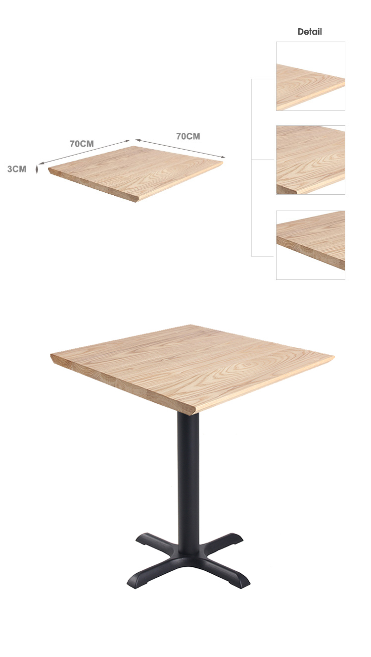 Tavolini da caffè quadrati 70x70cm in legno di pino TTAW-N01-SQ70-30 (1)