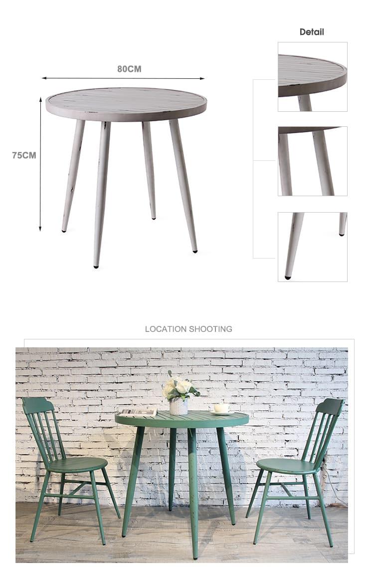 Personalizza il tavolino da caffè 4 posti ristorante in alluminio 714DT-ALU-SQ75&RO80 (2)