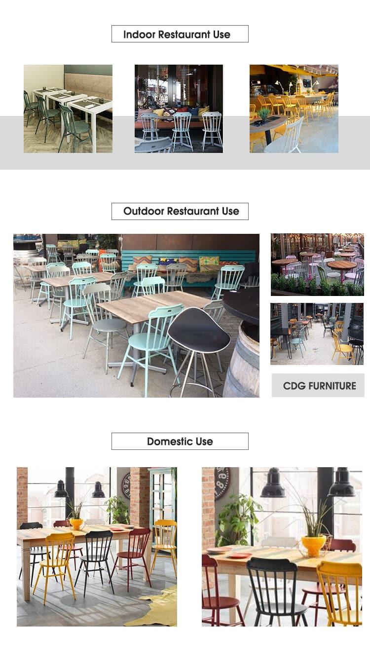 Silla de comedor apilable nórdica para restaurante Crown Royal de diseñador 723-H45-ALU