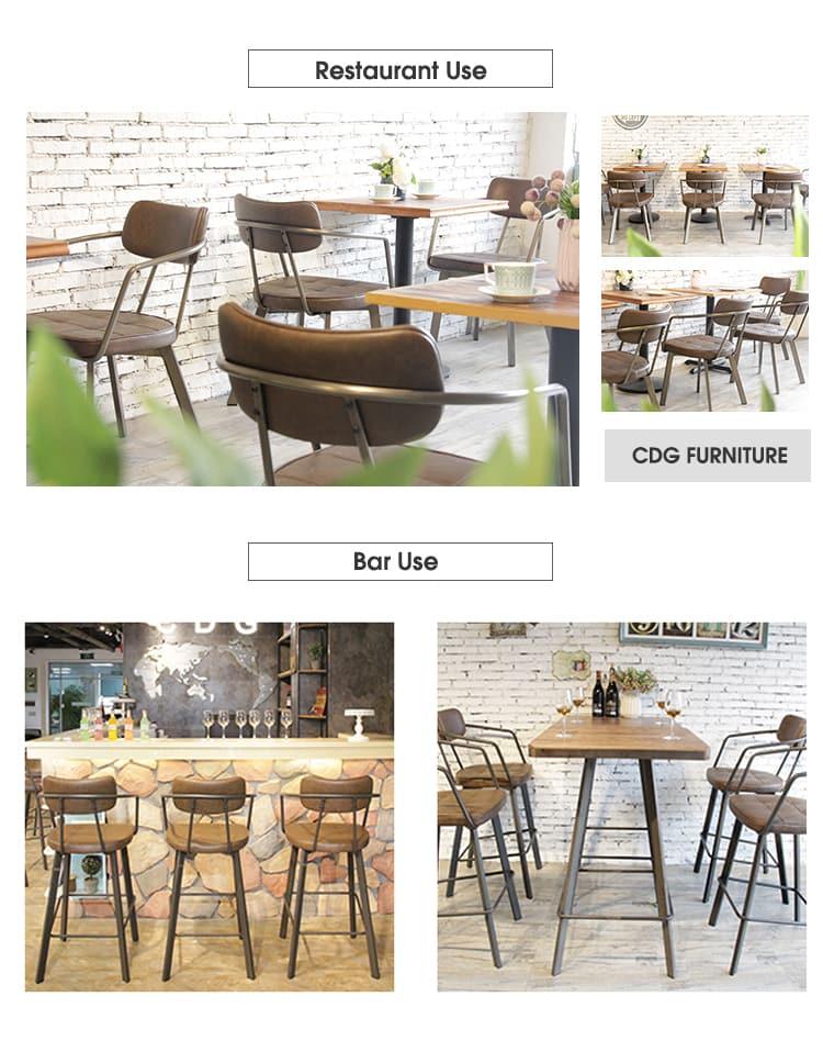 كرسي طعام بإطار معدني إيطالي منسوج من الجلد الطبيعي باللون البني 795M-H45-STPU (3)