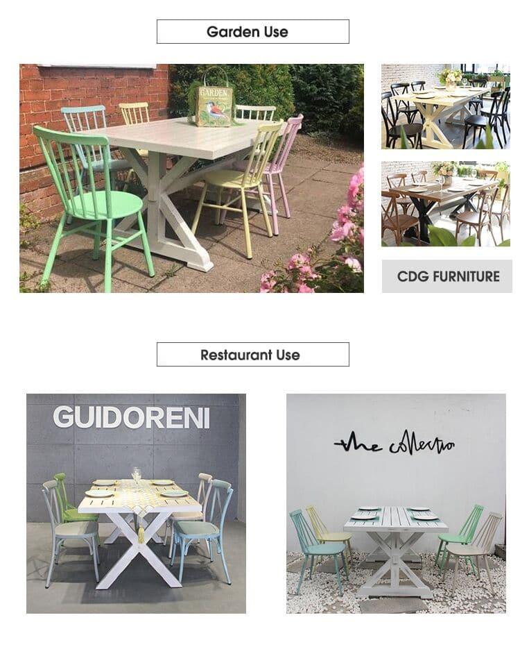 French Indoor Outdoor Garden XNUMX Seater Dining Set Table XNUMXDT-ALU-REXNUMX (XNUMX)