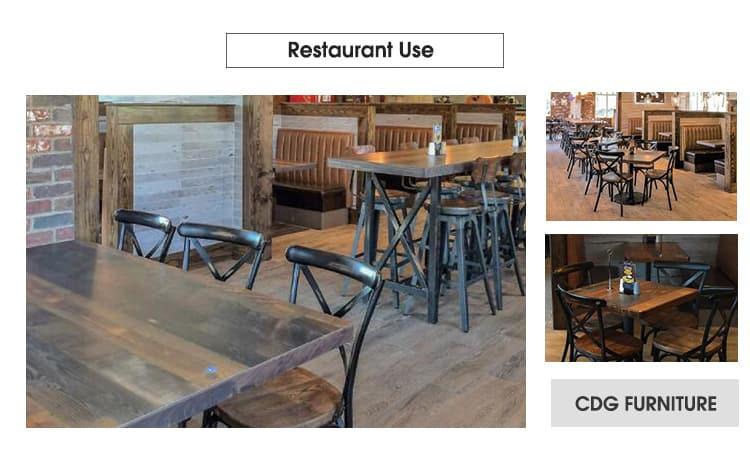Sedia con schienale incrociato antico con retro X retrò per ristorante Cafe 657-H45-AlUW (3)