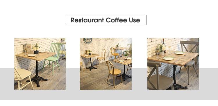 Piano d'appoggio commerciale in legno massello della caffetteria della mobilia TTAW-V02-SQ70-25 (1)
