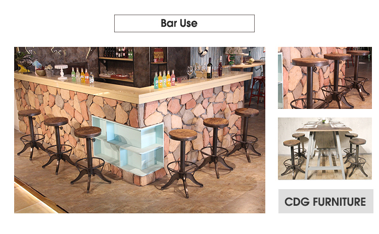 كرسي مرتفع من American Loft Bar Stool 642-H75-STW (3)