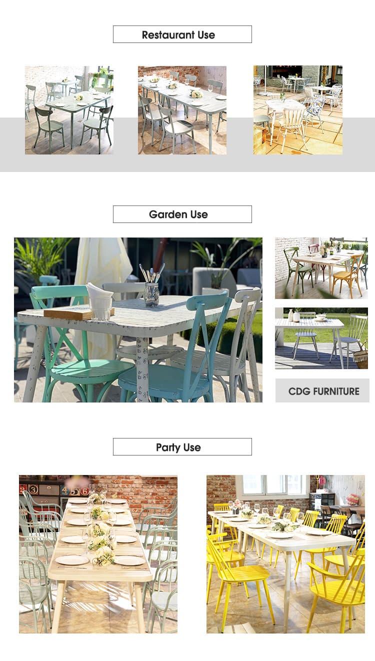 Mesa de jardín al aire libre impermeable de aluminio del balcón del patio 714DT-ALU-SQ75 & RE12075