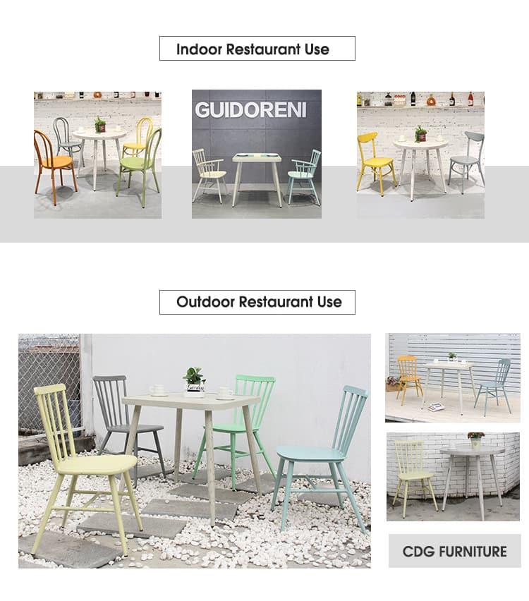 Personalizza il tavolino da caffè 4 posti ristorante in alluminio 714DT-ALU-SQ75&RO80 (3)