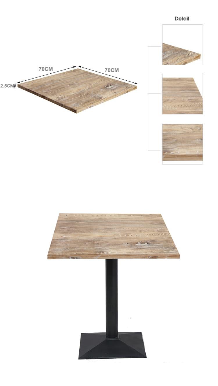 Piano d'appoggio commerciale in legno massello della caffetteria della mobilia TTAW-V02-SQ70-25 (3)