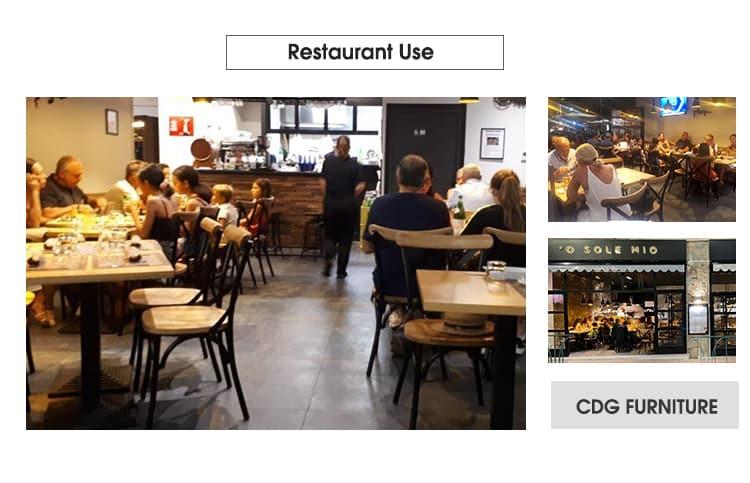 Vintage Hotel Restaurante Asientos de madera Comedor X Silla con respaldo 657BS (F) -H45-STW (3)