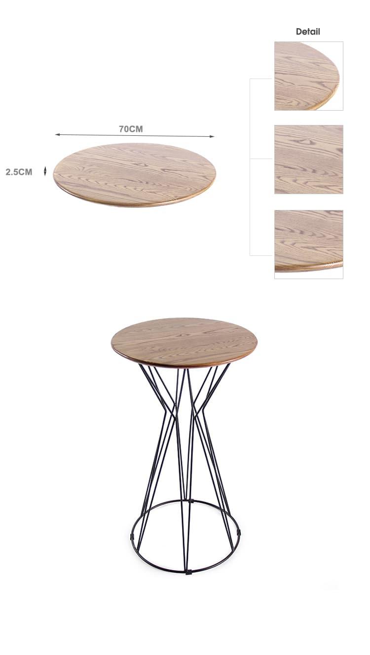 طاولة طعام خشبية مستديرة للأماكن المغلقة أوكا TTAW-LG01-RO70-25 (1)
