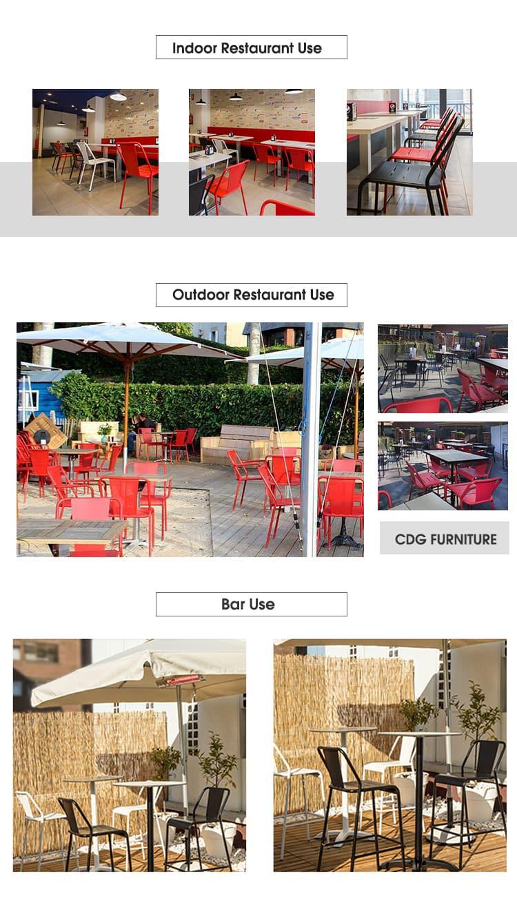 Sedia impilabile nordica per sala da pranzo da bistrot per ristorante industriale 796S-H45-ALU (3)