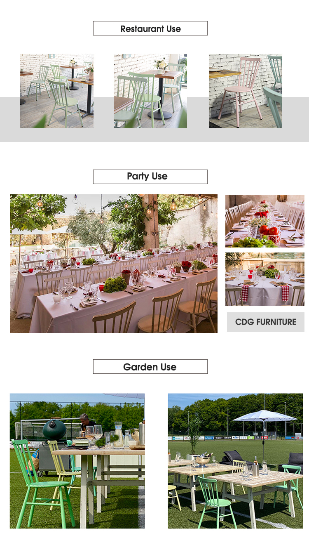 Colorido Windsor Comedor Bistro Restaurante Cafe Silla apilable 727-H45-ALU (3)