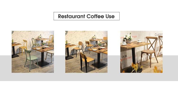 تخصيص الأثاث الخشب المحروق مطعم الخشب الجدول قمم TTAW-V05-SQ70-25 (1)