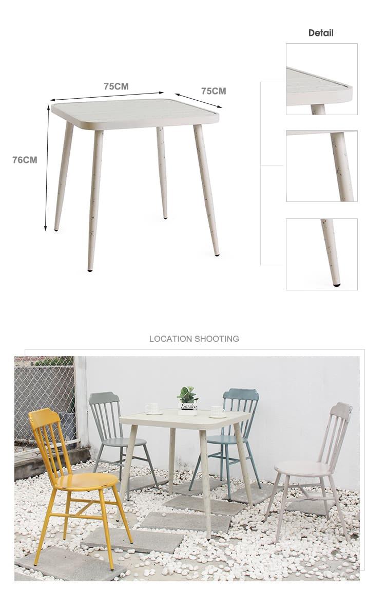 Personalizza il tavolino da caffè 4 posti ristorante in alluminio 714DT-ALU-SQ75&RO80 (1)