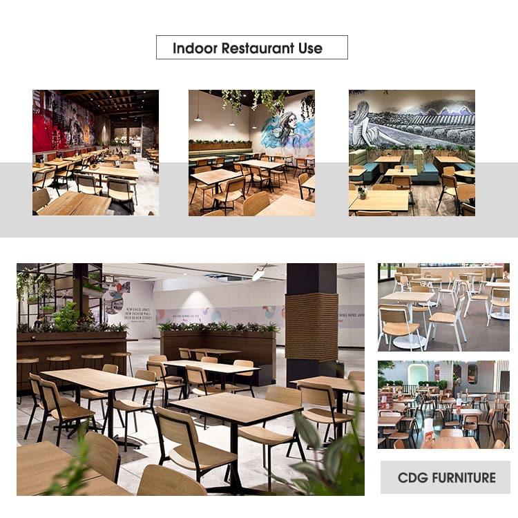 Sedia design da ristorante in legno di noce e rovere curvato con struttura in metallo 705-H45-STW