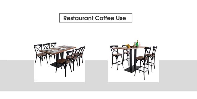 Base della Tabella delle gambe del nero del ghisa due per il caffè TBIR-30 del ristorante (9)