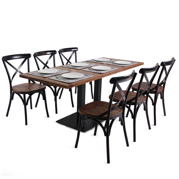 Base della Tabella delle gambe del nero del ghisa due per il caffè TBIR-30 del ristorante (2)