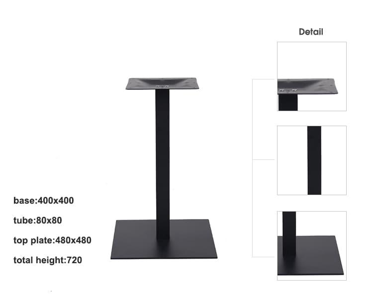 Base de mesa de pedestal de metal para mesa de café TBIR-07 (5)