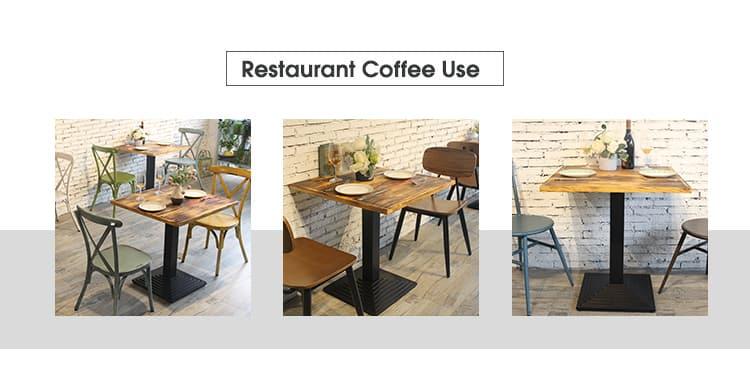 Pata de mesa de diseño francés estándar de estilo industrial negro mate TBIR-06 (4)