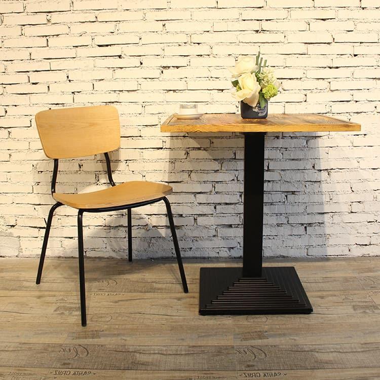 Pata de mesa de diseño francés estándar de estilo industrial negro mate TBIR-06 (2)