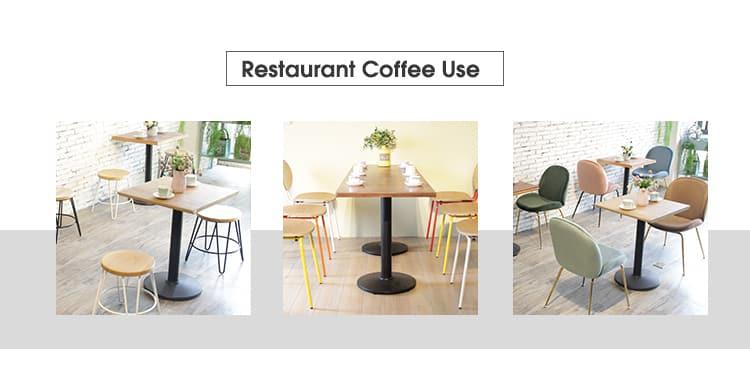 النمط الصناعي كرنك معدن طاولة القهوة شوب قاعدة TBIR-05 (7)