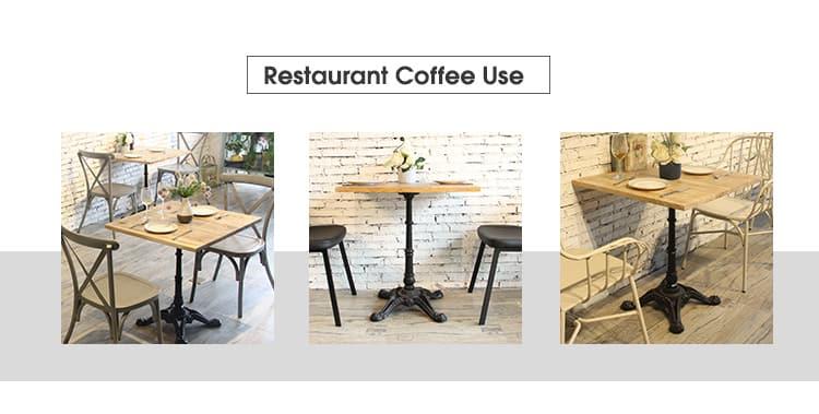 Base de mesa de comedor de restaurante de hierro forjado TBIR-02 (8)