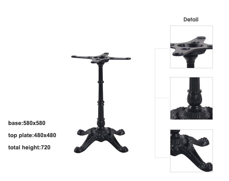 Base de mesa de comedor de restaurante de hierro forjado TBIR-02 (2)